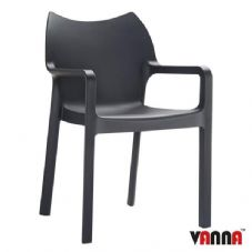 Vanna Peak Arm Chair - Black